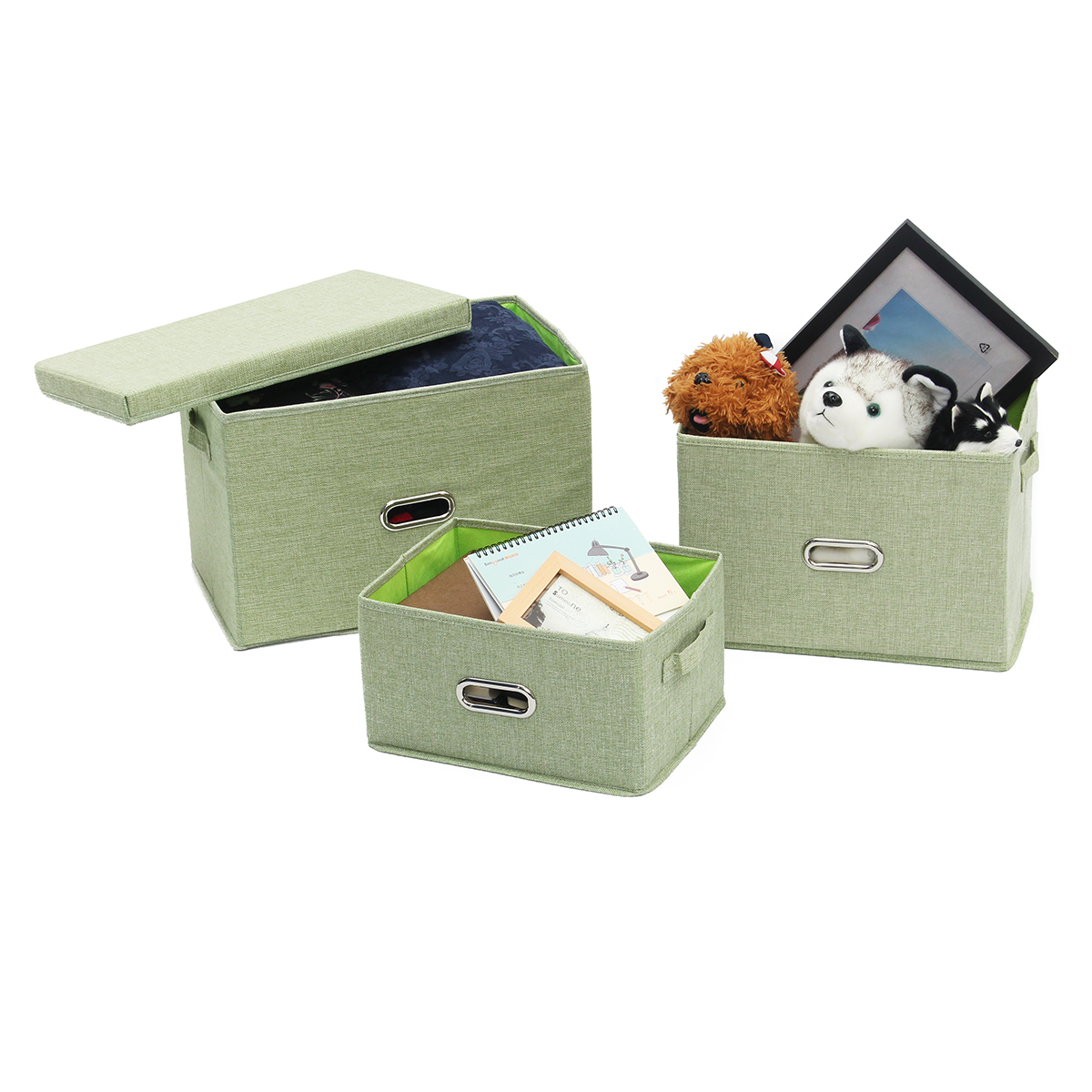 Folding Clothes Storage Baskets Home Camping Sundries Organizer Laundry Box Container With Lid