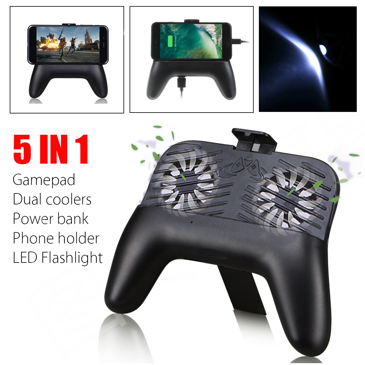 Bakeey Mobile Phone Game Joystick with Cooler Fan Power Bank Gamepad Handler for Smartphones