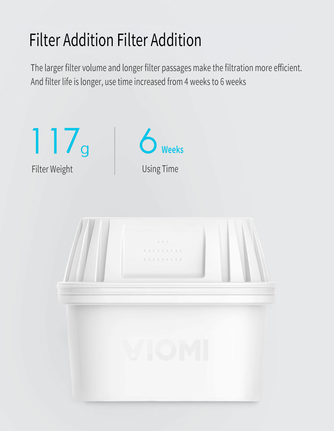 VIOMI Ultra Filter Kettle L1 UV Sterilization 7 Times Effective Filtering Fresh Healthy With Adapter