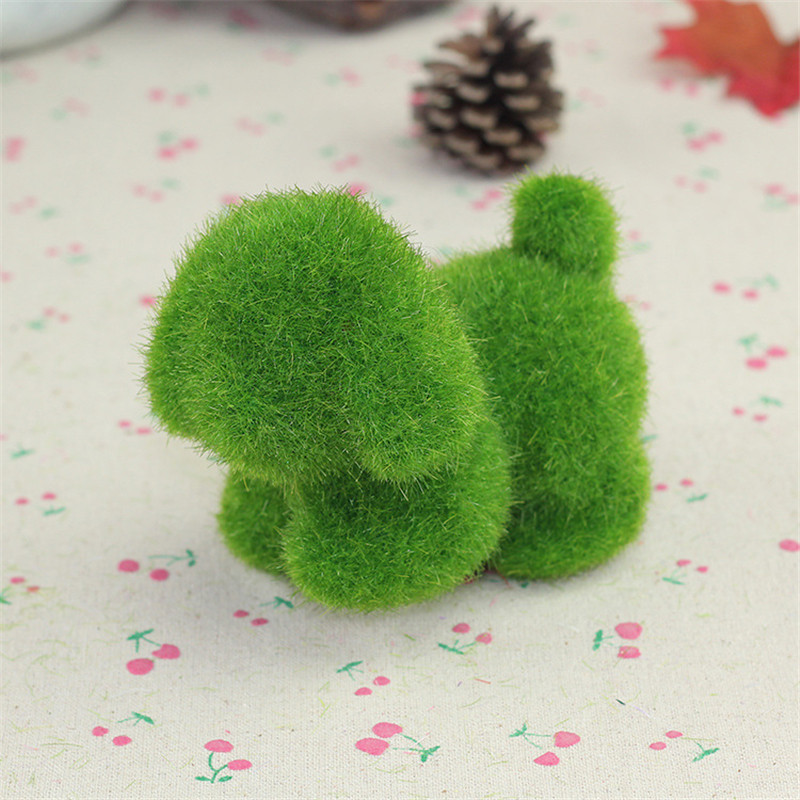 4Pcs Turf Small Cute Animals Artificial Grass Toy Decorations Animal Grass Land Stuffed Toys