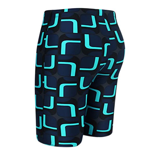 Mens Plus Size Spa Surf Zipper Pocket Printing Beach Swimming Shorts Knee Length Trunks