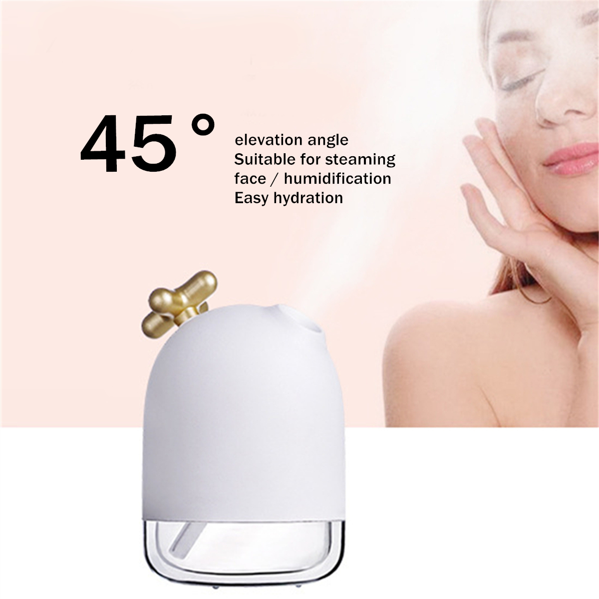 USB Mini Air Humidifier Oil Diffuser Aromatherapy Household Ultrasonic Humidifier