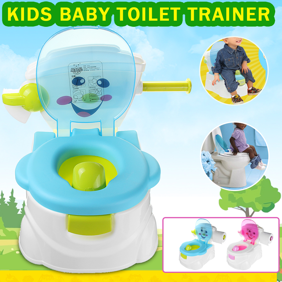 1 x Baby Toilet. More Detailed Photos: 2 In1 Portable Music Kids Baby Toilet Trainer Child Toddler Potties Training Seat Fun Chair