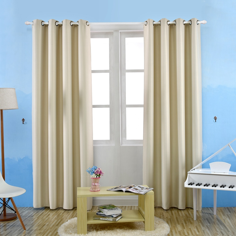 Honana WX-C12 Room Darkening Thermal Insulated Blackout Grommet Window Curtain Living Room Bedroom