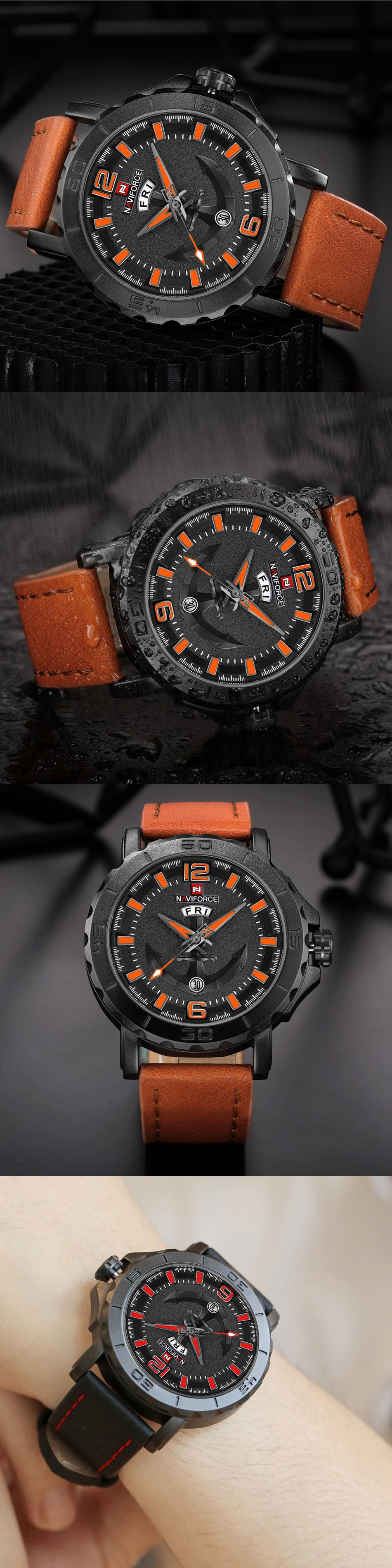 NAVIFORCE NF9122 Men Fashion Quartz Watch