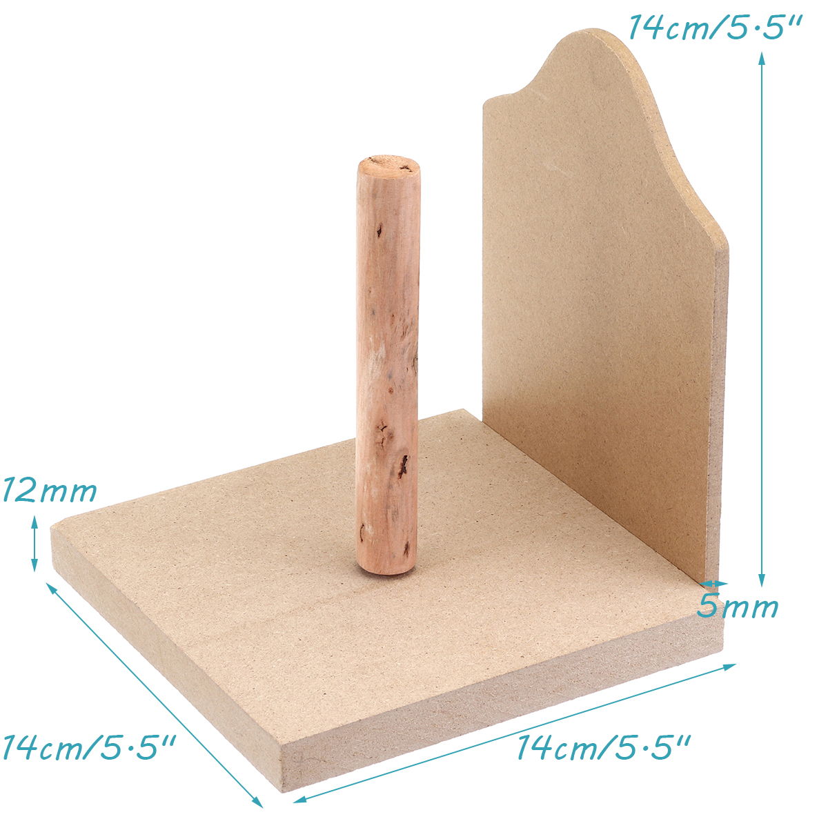 Toilet Loo Wooden Roll Paper Holder Bathroom Wall Mounted Roll Storage Rack Tissue Box