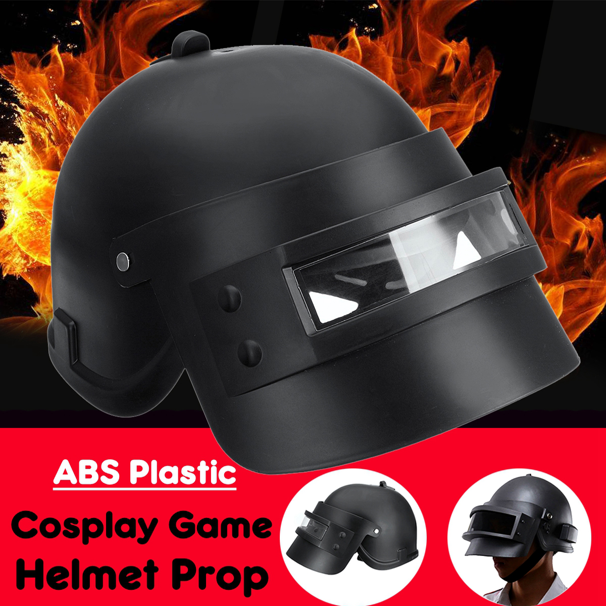 Game Cosplay Mask Level 3 Props Cap Helmet Black Halloween Christmas Player