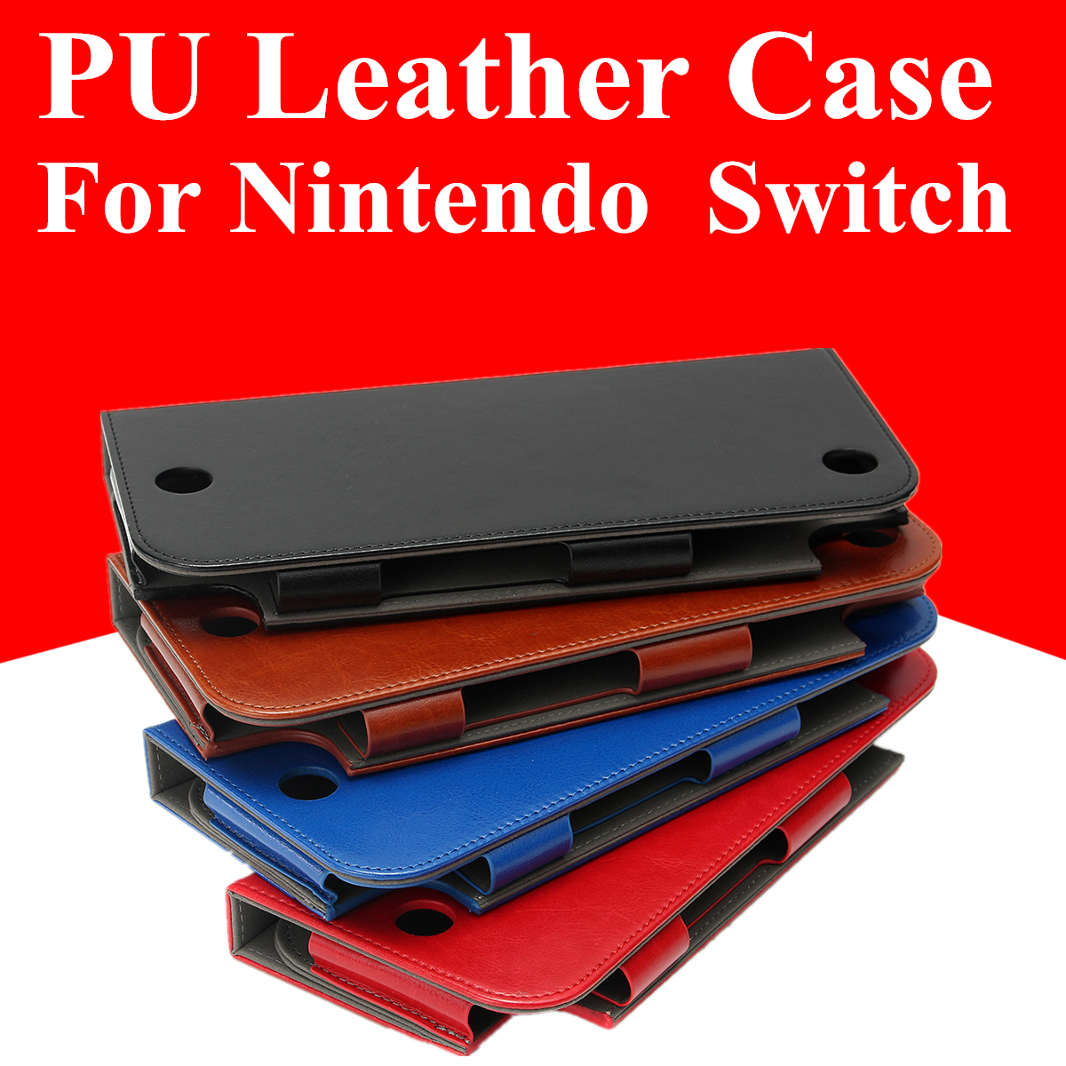 Magnetic PU Leather Protective Case Cover Skin Sleeve Stand For Nintendo Switch Game Console 25