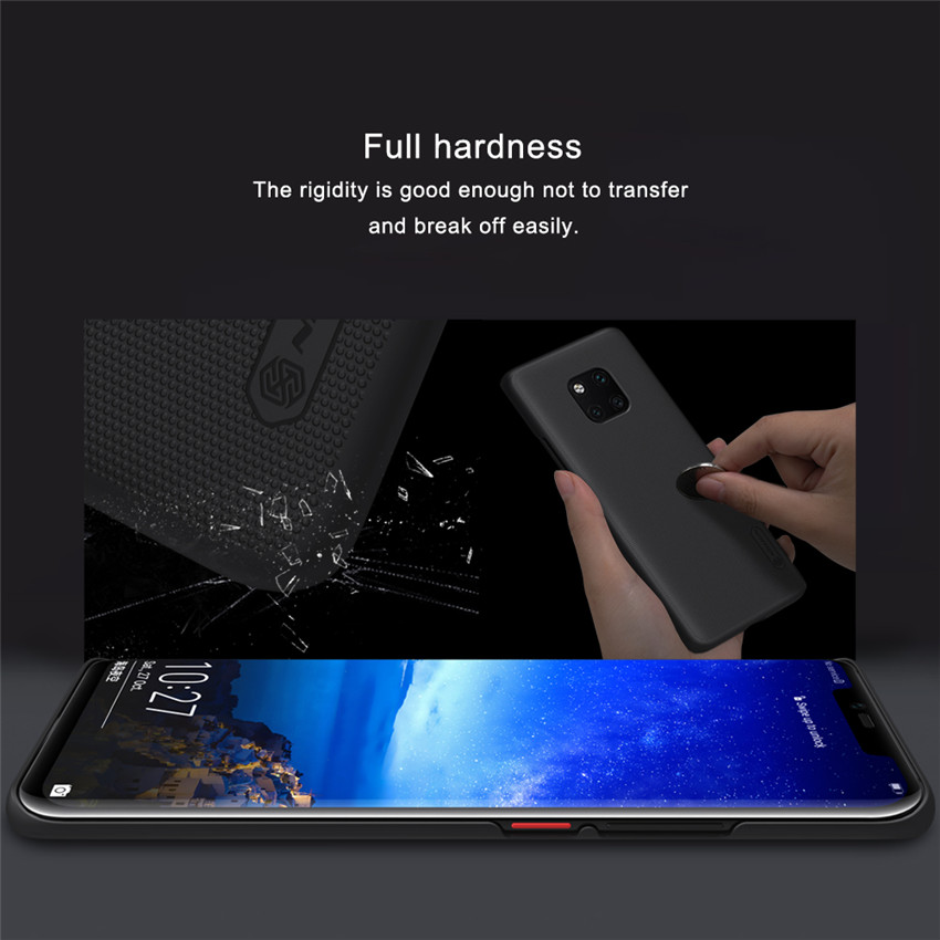 NILLKIN Frosted Shockproof Thin Hard PC Back Cover Protective Case for Huawei Mate 20 Pro