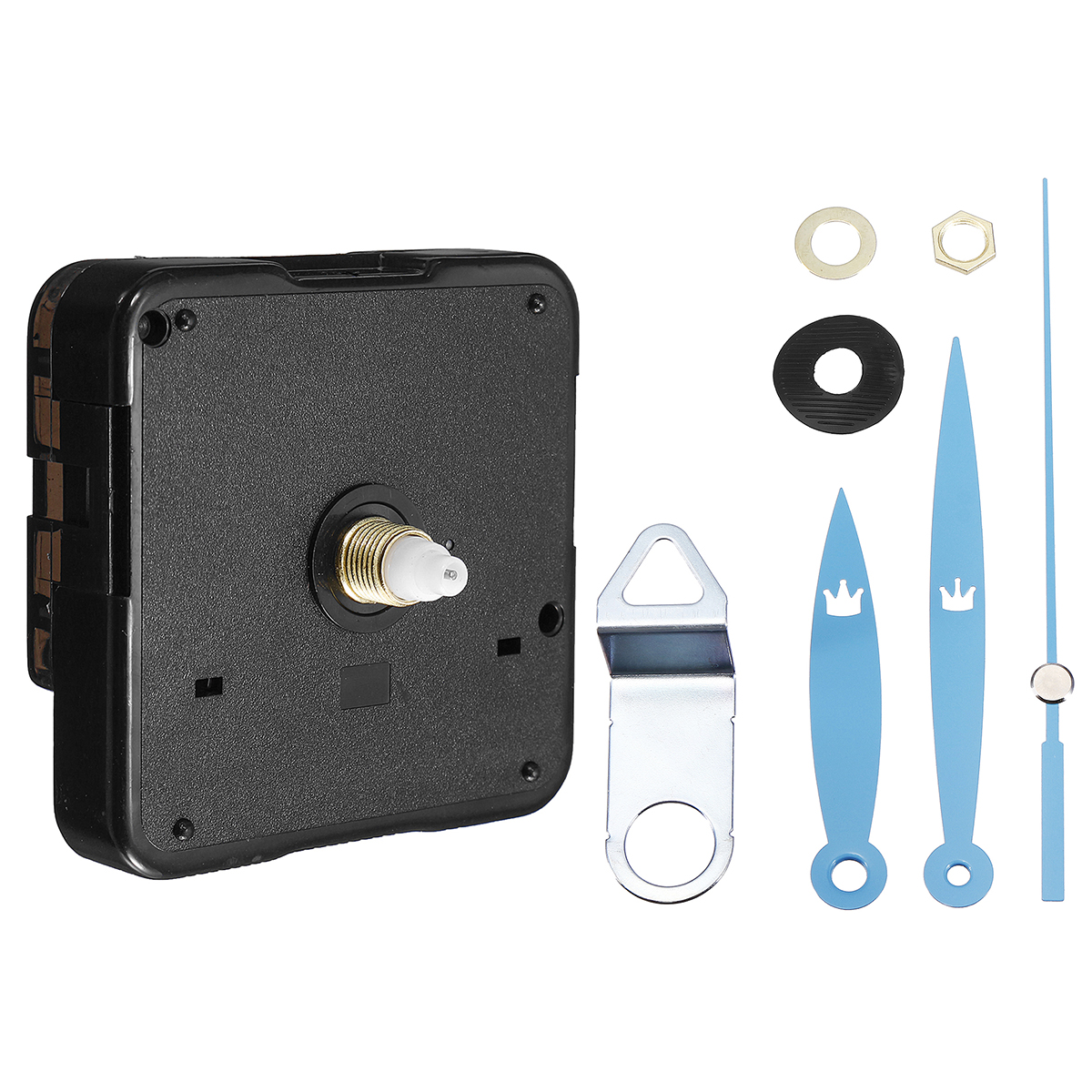 Quartz Silent Clock Movement Mechanism Module DIY Kit Hour Minute Second Without Battery