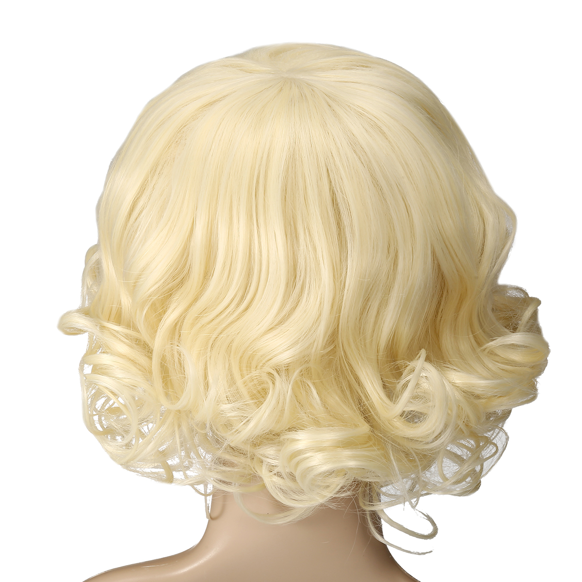 Blonde High Temperature Silk Short Curly Hair