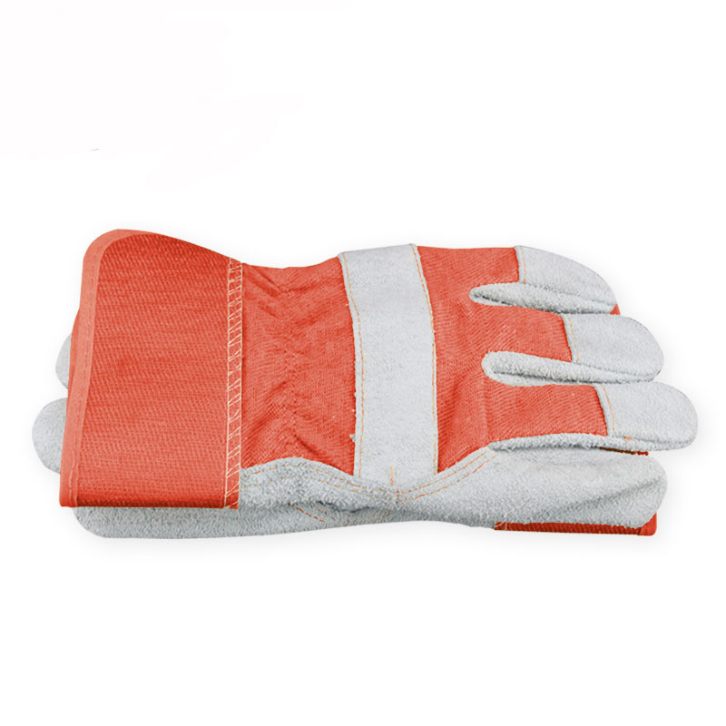 Gardening Protective Work Gloves Cow Split Leather Transport Driving Carrying Factory Working Glove