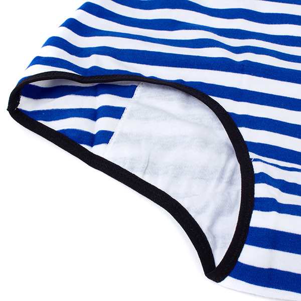 Women Cotton Menstrual Leakproof Pocket High Waist Striped Briefs Panties Underwear