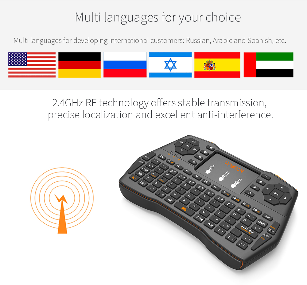 I8 Plus Mini 2.4GHZ Wireless Keyboard Touchpad Mouse For Macbook Laptop Tablet Projector Smart TV Box