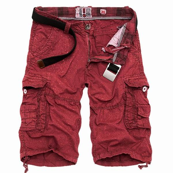 Mens Summer Cotton Cargo Pants Paint Spraying Printed Multi Pockets Cargo Shorts