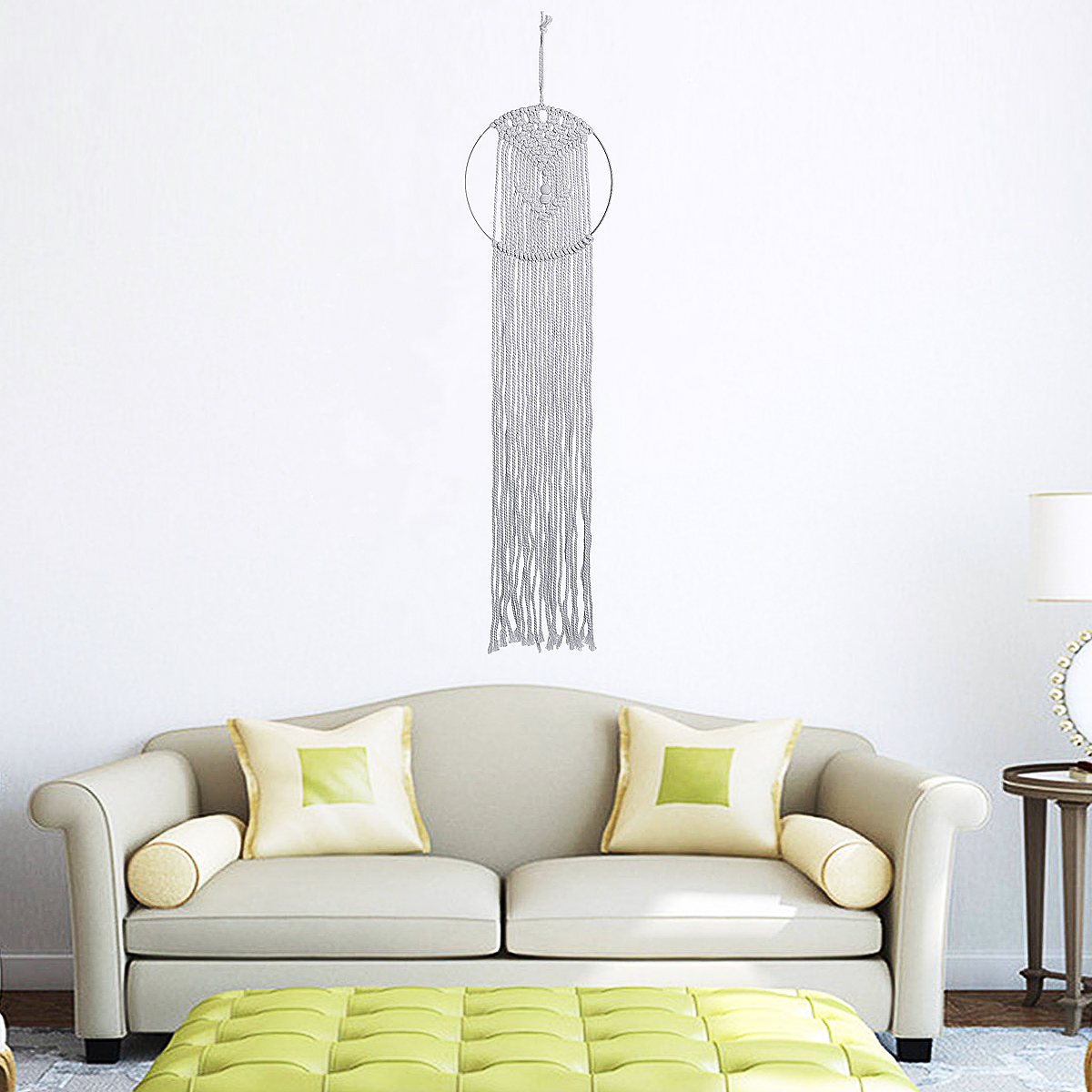 Macrame Woven Art Wall Hanging Tapestry Handmade Cotton Chic Bohemian Home Decor