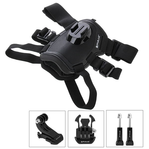 PULUZ Hound Dog Fetch Harness Adjustable Chest Strap Mount for Gopro