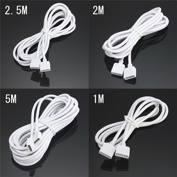 1/2/2.5/5M RGBW 5 Pin Extension Connector Cord Cable Wire For RGBW LED Strip Light