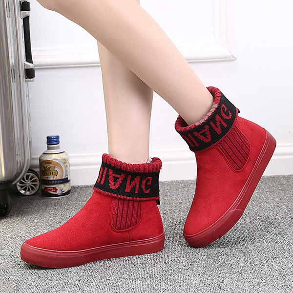 Snow Boot Cotton Shoes Women Winter Keep Warm Casual Outdoor Slip On Flats