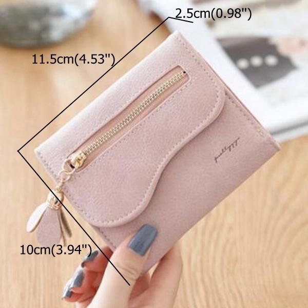 Bi-fold Stylish PU Leather Small Wallet Purse For Women