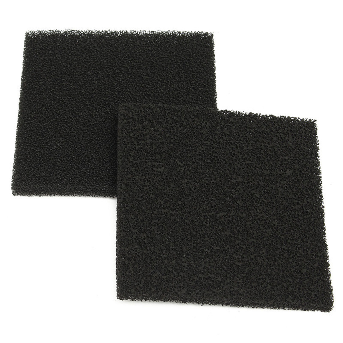 10pcs 28PPI Black Square Activated Carbon Foam Sponge Air Filter Pads Set for Smoke Absorber