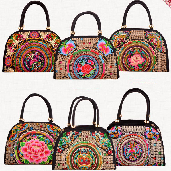 National Style Fashion Embroidery Bag Handbag For Women