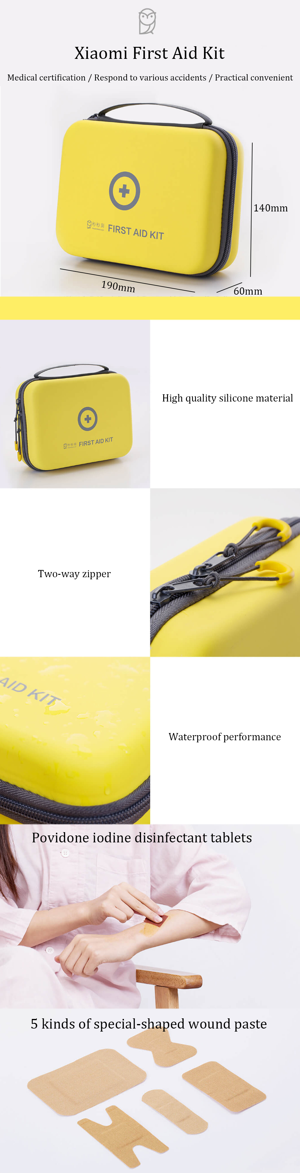 Xiaomi EDC First Aid Kit Portable Survival Bag Emergency Medical Rescue Pack Outdoor Travel