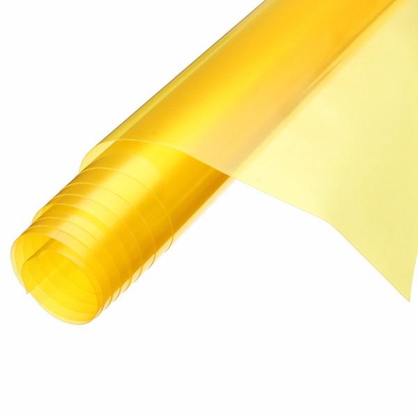 1.2mx0.3m Car Light Tint Vinyl Film Self Adhesive Decal Sheet Sticker Golden Yellow