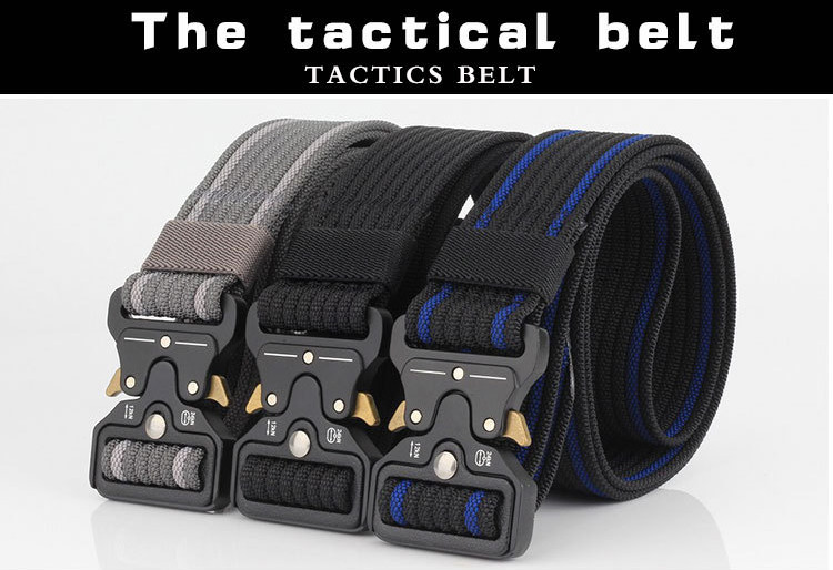 125cm AWMN S05 3.8cm Military Tactical Belt Nylon Quick Release Inserting Cobra Buckle Belts For Men Women