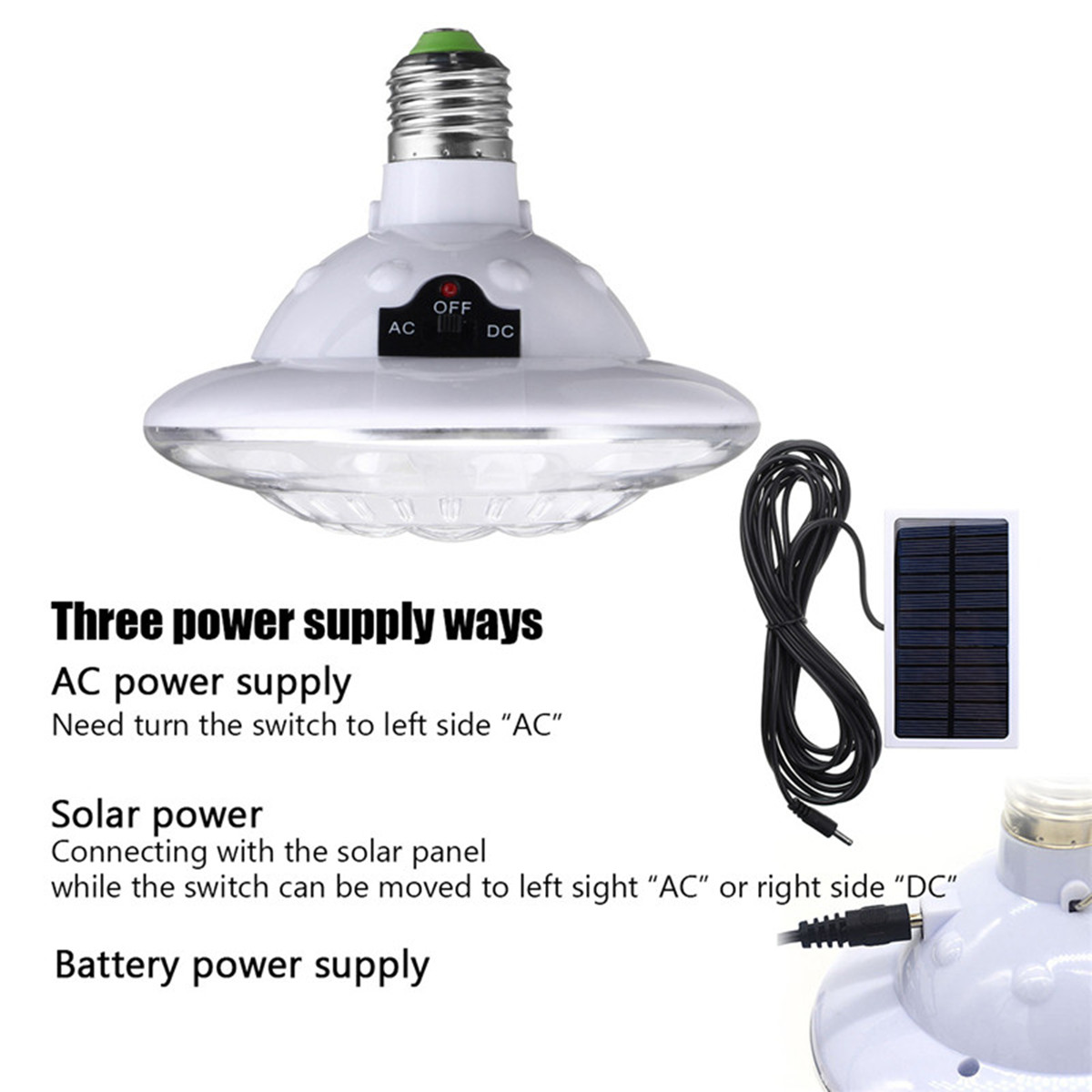 22LED Outdoor Indoor Solar Lamp Hooking Camping Light Hiking Garden Path Bulb Remote Control