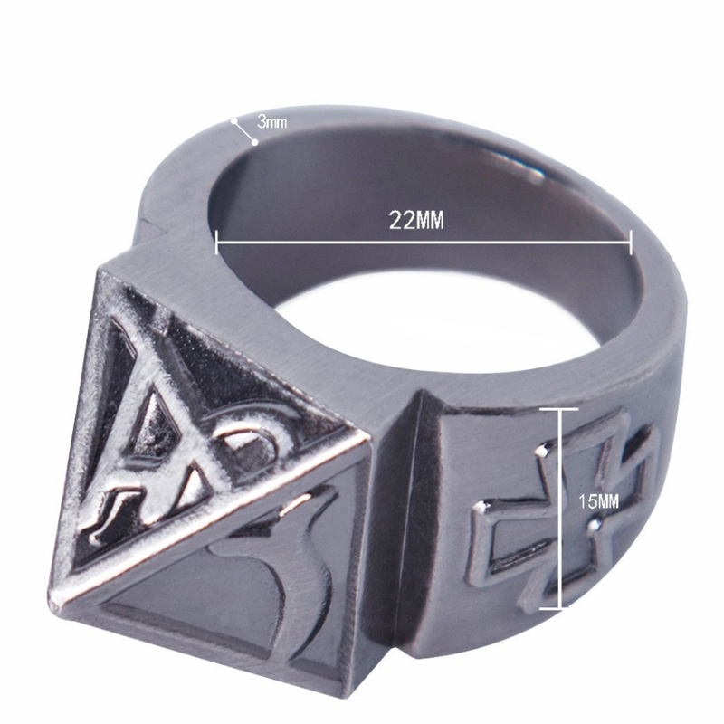 Pocket Self Defense Ring Shocker Weapon Survival Ring Tool Female Ring with Necklace Zinc Alloy Trav