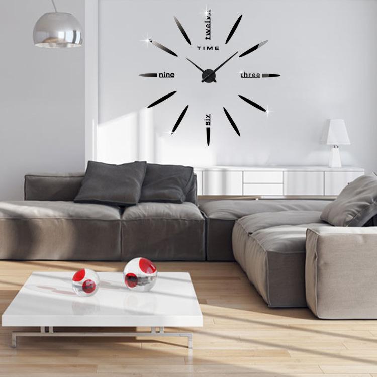 3D Acrylic Creative Wall Clock Diy Living Room Wall Clock