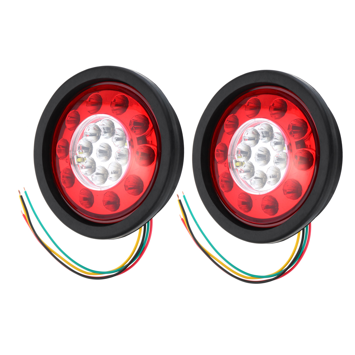 19 LED Truck Lorry Brake Lights Stop Turn Tail Lamp Black