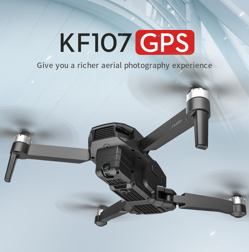 KF107 GPS 5G WiFi 1.2KM FPV with 4K Servo Camera Optical Flow Positioning Brushless Foldable RC Drone Quadcopter RTF
