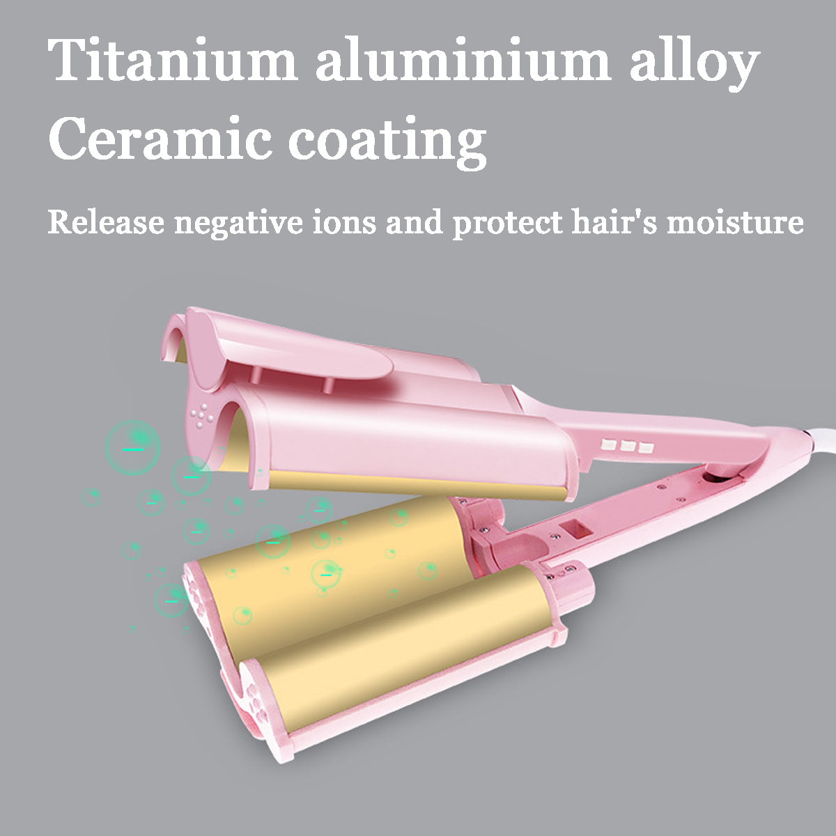 Ceramic Three Tubes Hair Curlers