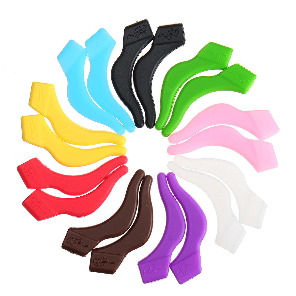 Colorful Silicone Sports Temple Tips Anti-slip Glasses Cover