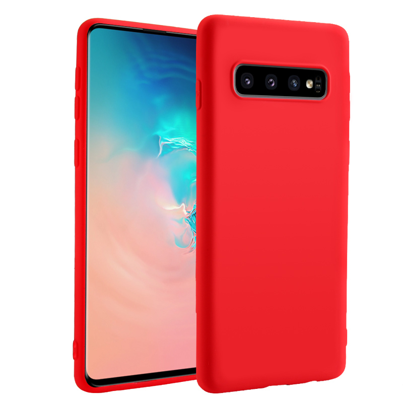 Bakeey Liquid Silicone Rubber Protective Case For Samsung Galaxy S10e/S10/S10 Plus Anti Fingerprint Soft Back Cover