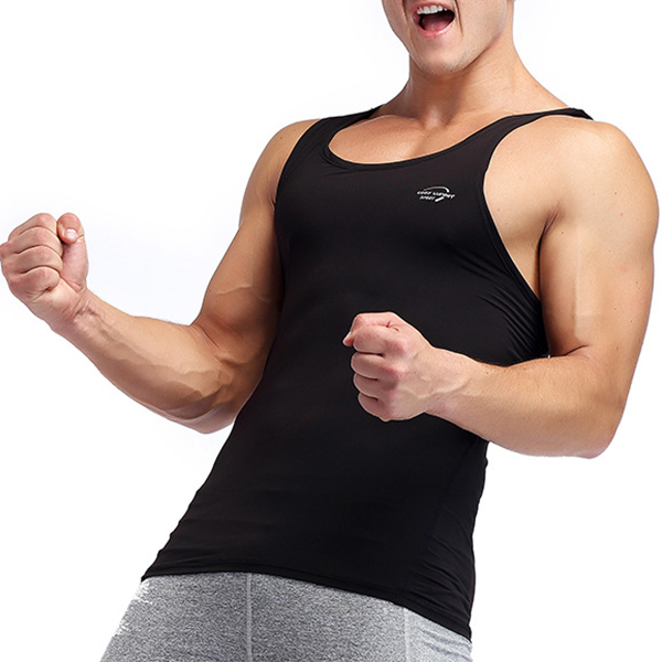 Men's Sexy Bodybuilding Quick Drying Underwear Vest Slim Fitness Sportswear