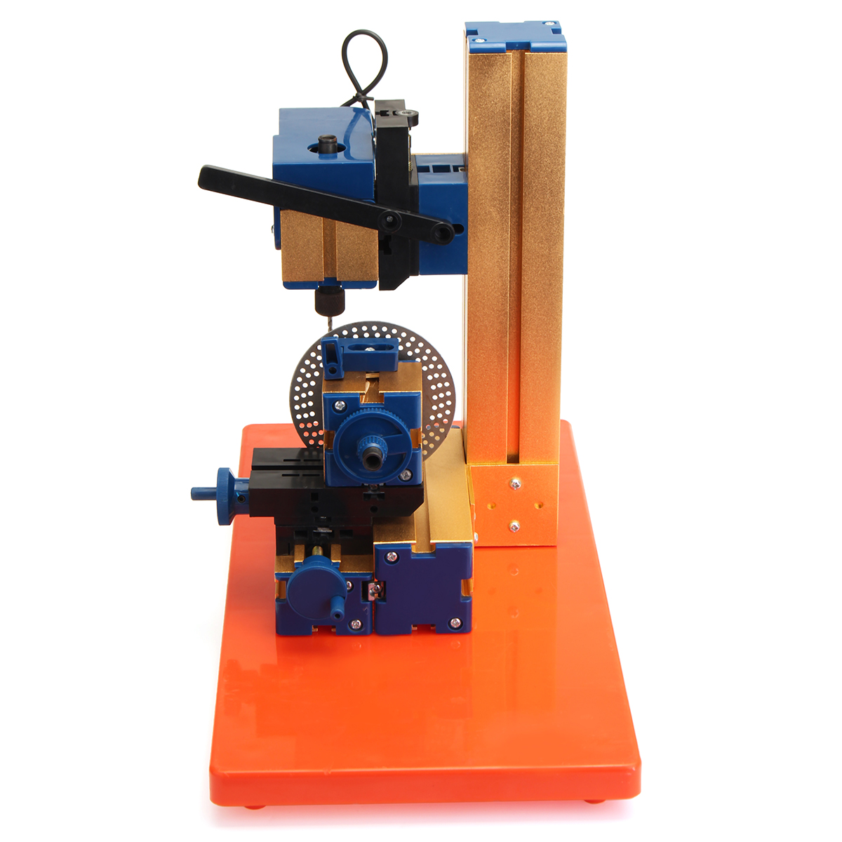 24W Wood Lathe Wood Working Lathe Machine DIY Woodworking Mini Rotary Spin Indexing Milling Tool