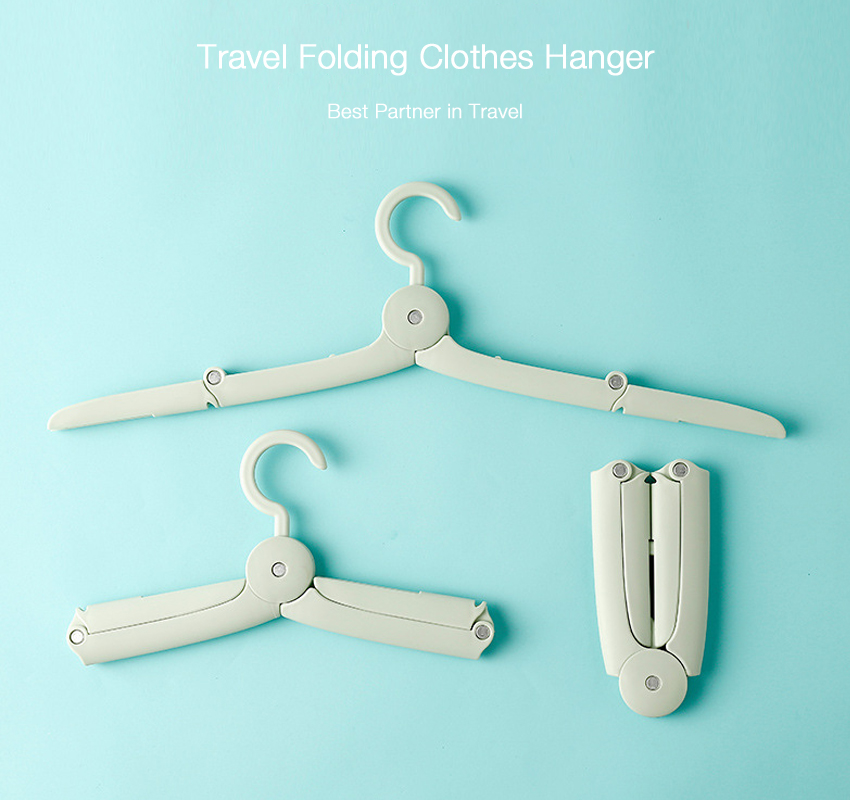Home Creative Multifuntional Portable Travel Foldable Plastic Clothes Holder Racks Folding Clothes Hanger