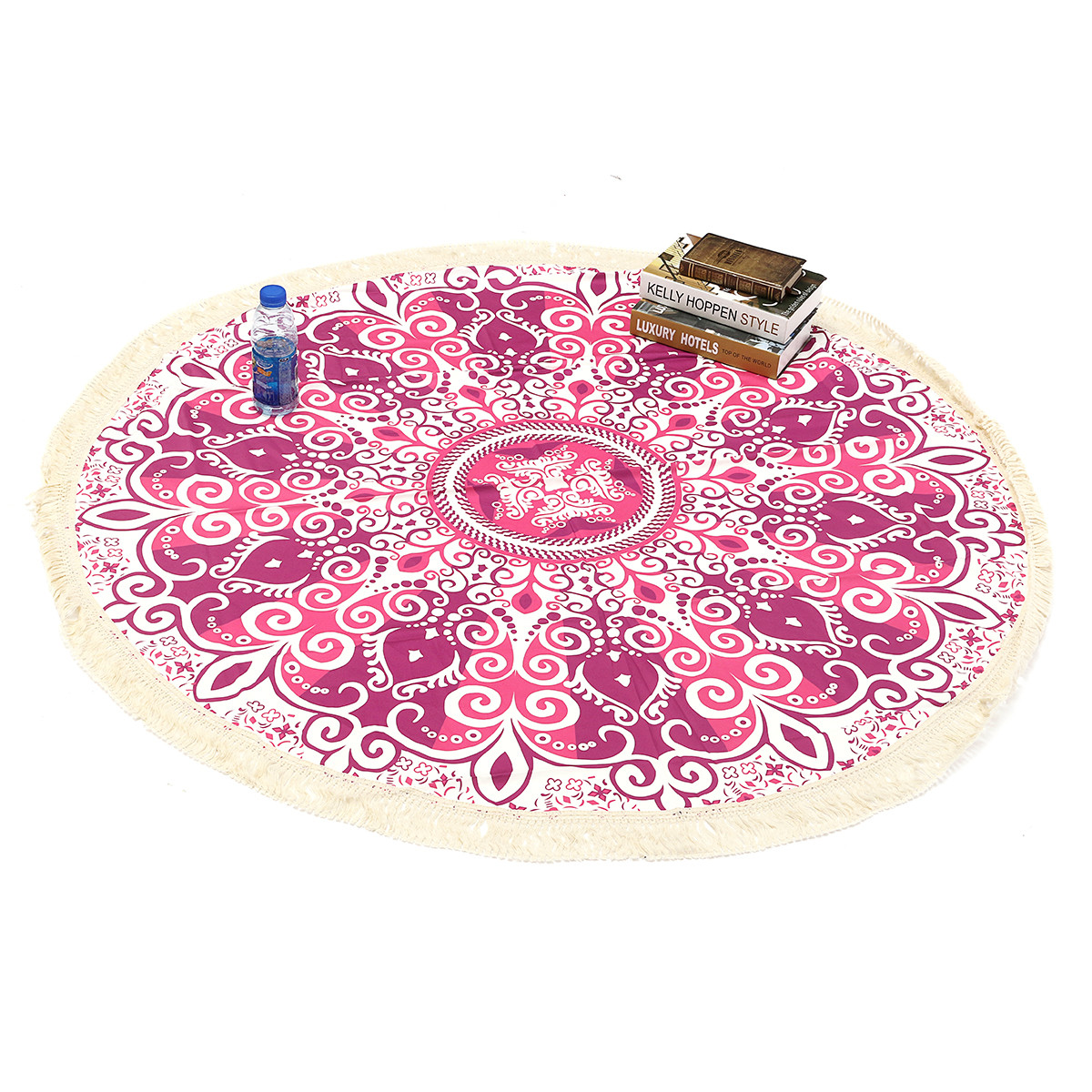 150CM Indian Round Mandala Tassel Tapestry Round Die Blanket Hippie Beach Towel Yoga Mat