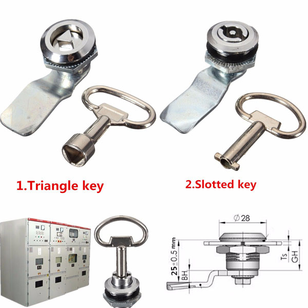 25mm Cam Lock File Cabinet Desk Drawer Locker and Key for Pinball Arcade Cupboard