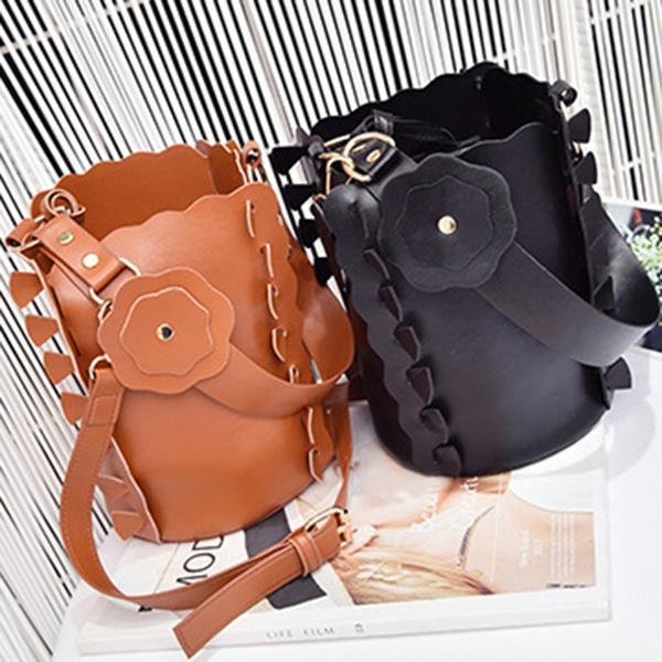 Women Floral Stylish 2 PCS Bucket Bag Dating Crossbody Bag