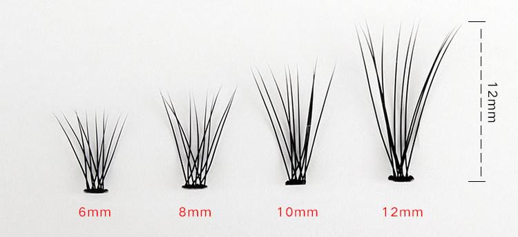 10D Black False Eyelash Individual Eyelashes Extension