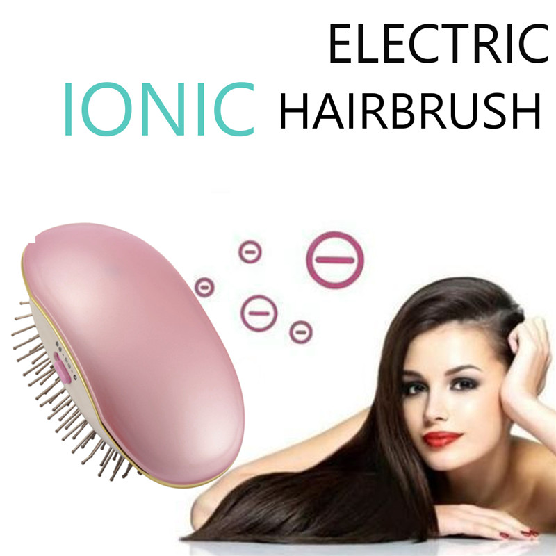 Portable Electric Ionic Mini Hair Brush Comb Massage