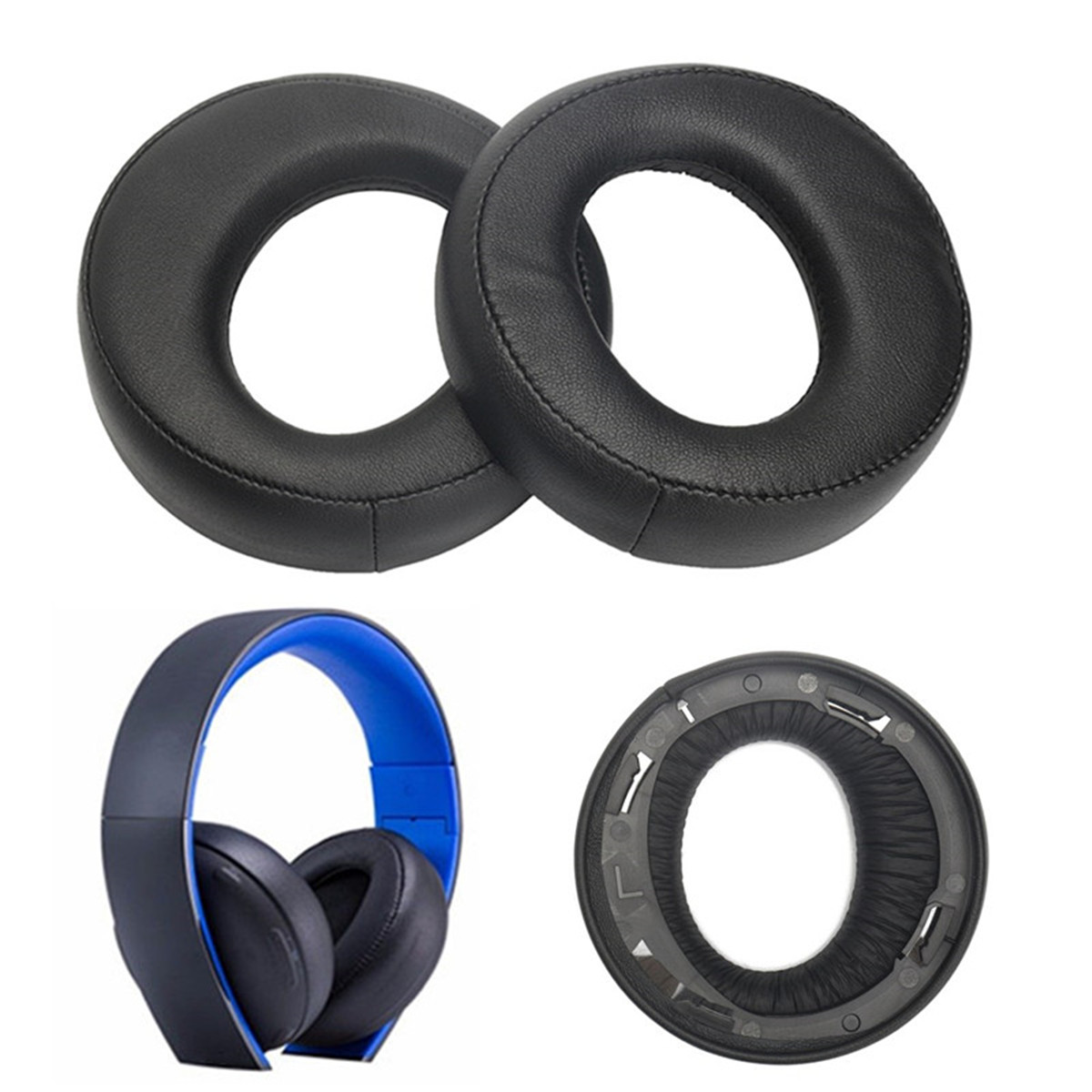 Earpad Cushion For Sony Blue for SONY Gold Wireless Stereo Headphone Headset PS3 PS4 7.1 L R