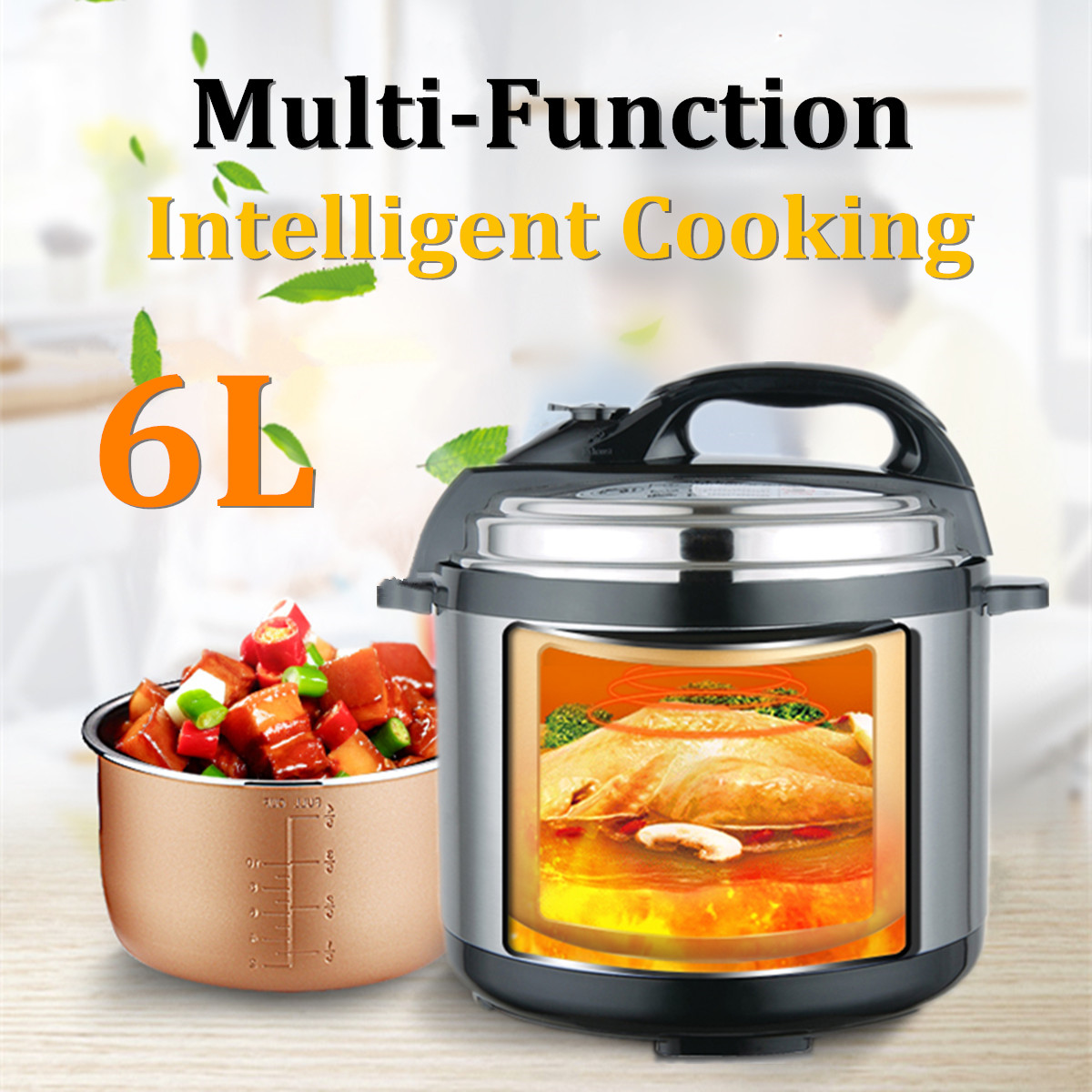 Instant Pot 9 In 1 Electric Multi-Use Programmable Pressure Rice Cooker Faster 6 Qt