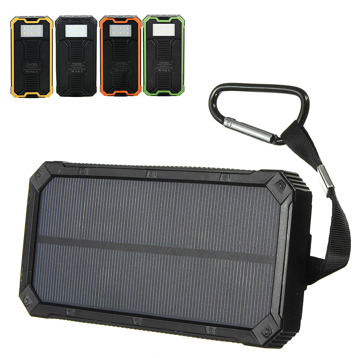Solar Power Bank Case Portable External Battery Charger For Smart Phone Battery 2*606090 not Included no Battery 2*706090