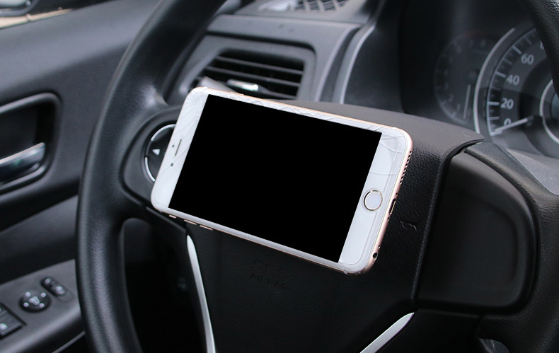 LW-919 Car Steel Ring Wheel Magnetic Holder Stable Phone Stand Car Mount for iPhone Samsung Xiaomi GPS