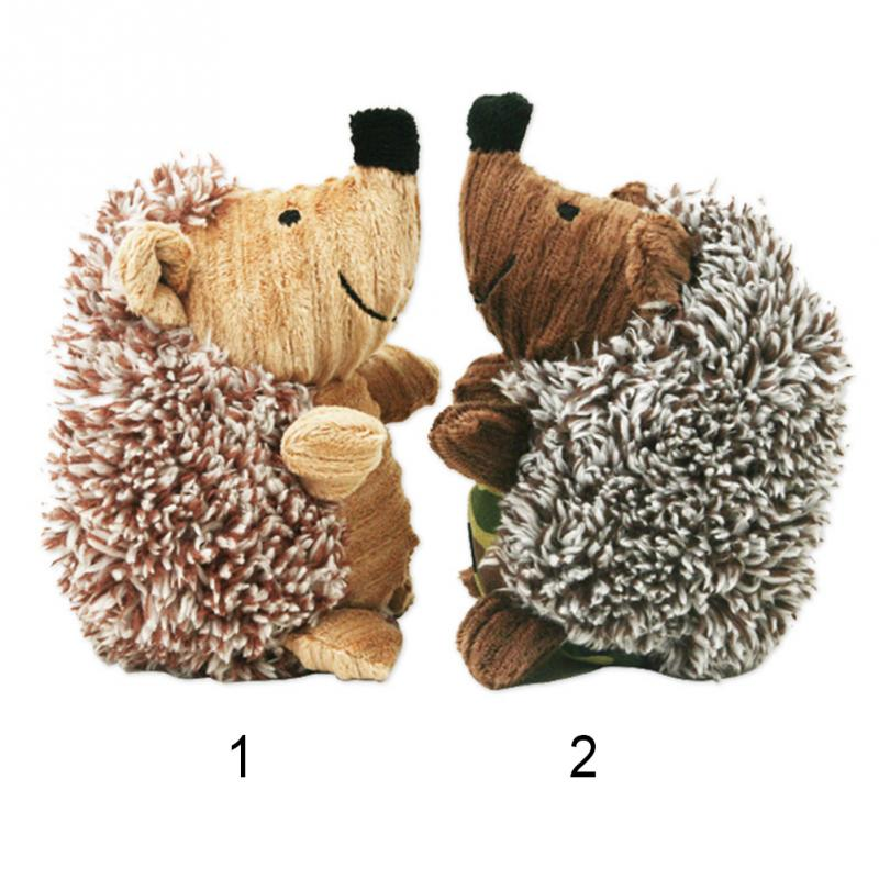 Yani Pet Chew Toys Dog Toys Plush Rattle and Squeak Toy Funny Hedgehog Pet Supplies
